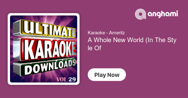 Karaoke - Ameritz - A Whole New World (In The Style Of